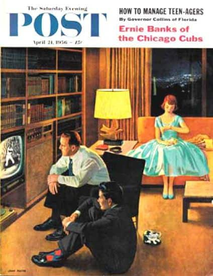 Saturday Evening Post 1956 Date with Television