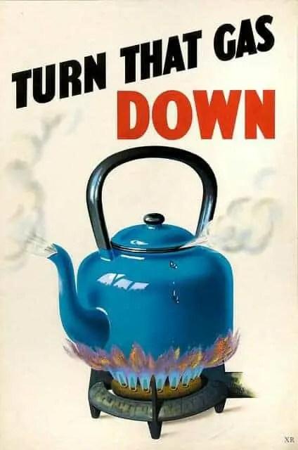 World War 2 poster turn that gas down