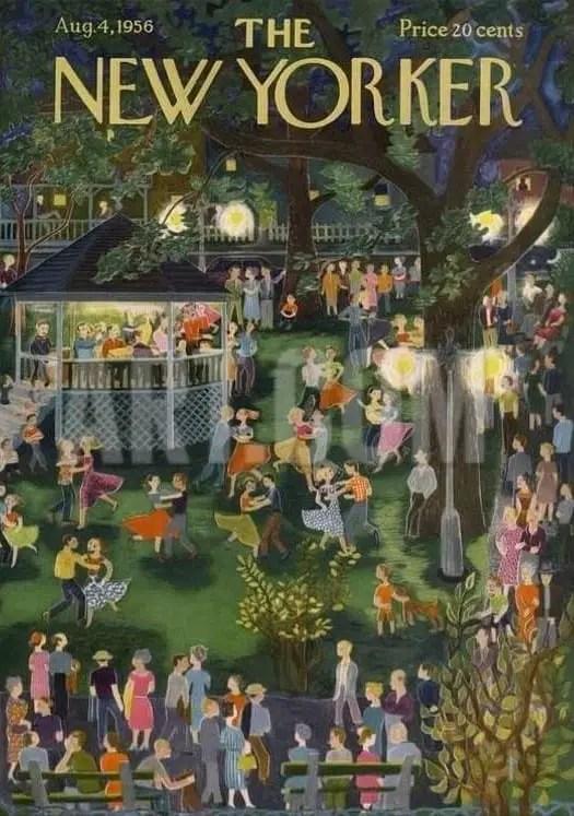 by Ilonka Karasz (1896-1981) night party