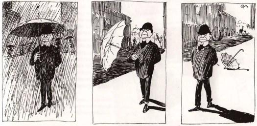 Swedish illustrator Oskar Andersson (1877-1906) Mannen som gör hvad som faller honom in (the man who does whatever comes into his head)