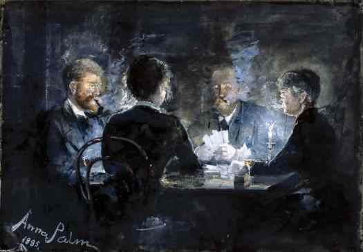Anna Palm de Rosa (1859–1924) - A Game of L'hombre in Brøndum's Hotel