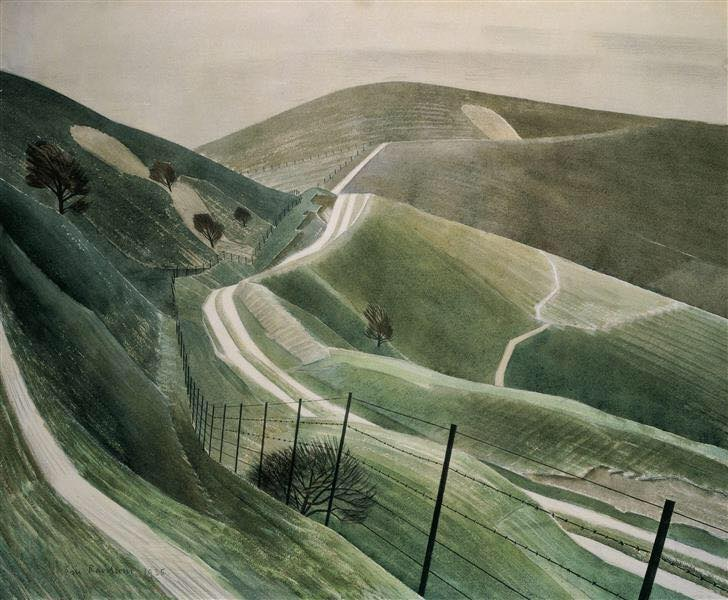 Chalk Paths by Eric Revilious, 1935
