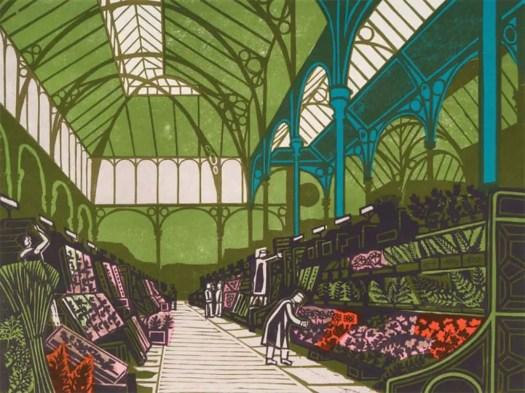 'Covent Garden Flower Market' (1967) by Edward Bawden