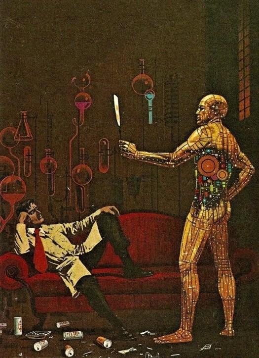 Dean Ellis (1920 - 2009) 1975 illustration for Henry Kuttner's The Proud Robot