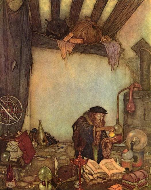 From HC Andersen, The Wind's Tale; Illustrated by Edmund Dulac, 1911