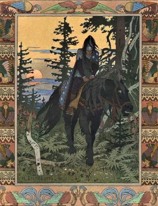 Ivan Bilibin (1876-1942) 1900 Illustration for the Russian folk tale Vasilisa the Beautiful