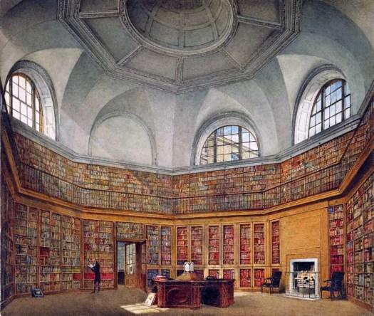 James Stephanoff - Buckingham House, Octagon Library 1818