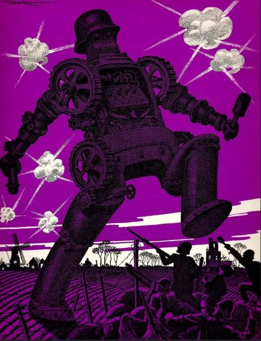NACHTMERRIE OVER NEDERLAND (1945) L.J. Jordaan purple robot