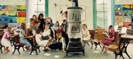 Norman Rockwell NORMAN ROCKWELL VISITS A COUNTRY SCHOOL, 1946
