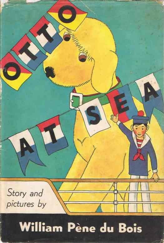 """""""Giant Otto"""" written and illustrated by William Pène du Bois starring a big yellow floppy dog"""