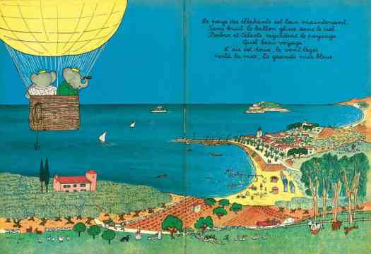 The Journey of Babar. Jean of Brunhoff, 1932 hot air balloon