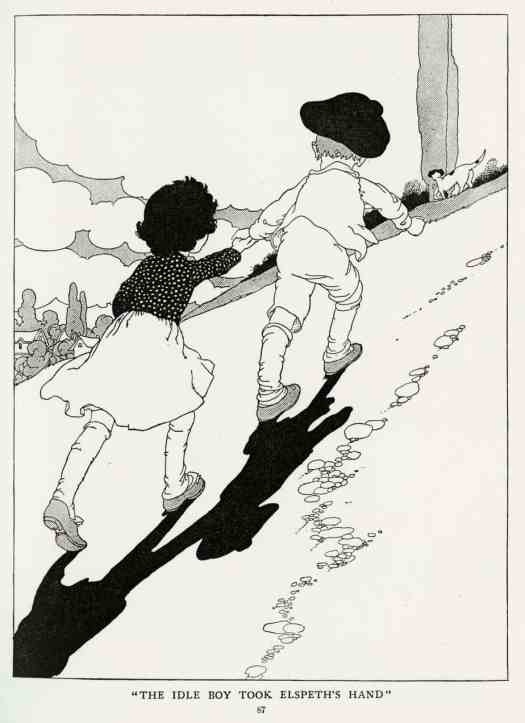 The Story of the Weathercock by Evelyn Sharpe 1907 illustrated by Charles Robinson The idle boy took Elspeth's hand