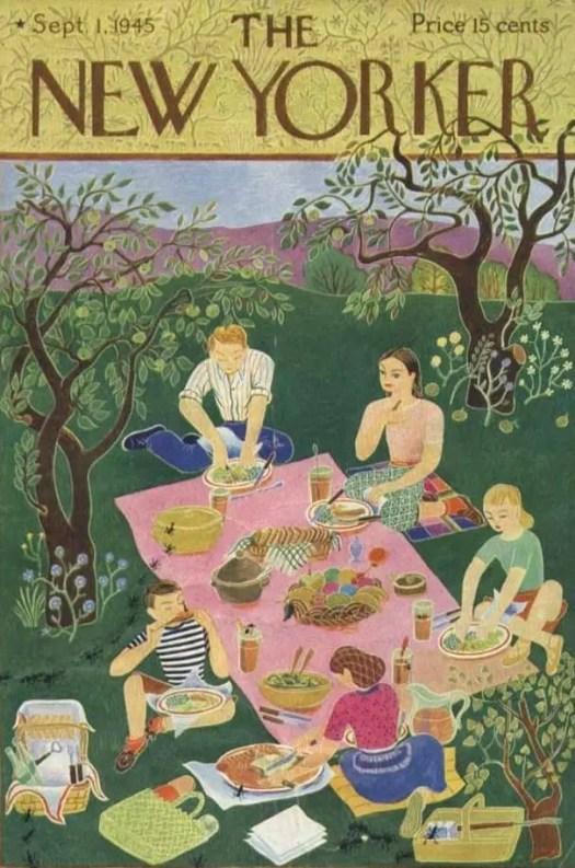 by Ilonka Karasz (1896-1981) 1945 picnic