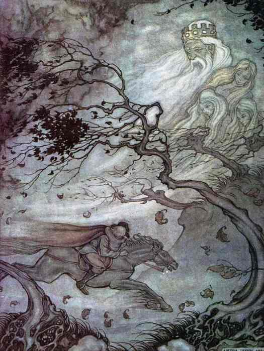 Anton Franciscus Pieck (1895 - 1987) 1942 The King Of The Forest Illustration for Grimm's Fairy Tales wind