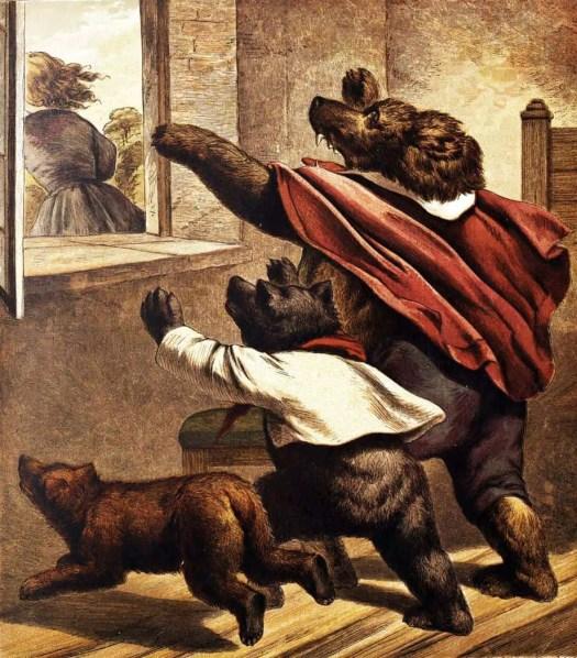 Walter Crane, illustration for The Three Bears, 1873