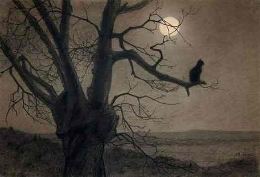 Cat in the moonlight, c. 1900 by Théophile Alexandre Steinlen