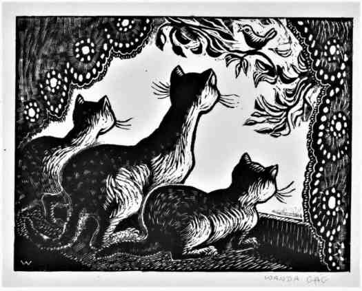 Cats at the Window by Wanda Gág, 1929