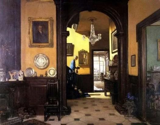 Frederick William Elwell (British , 1870 – 1958) My Neighbour's House, 1929