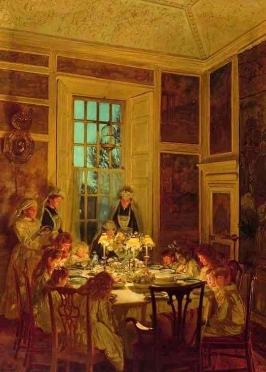 John Henry Lorimer (Scottish, 1856 - 1936) Grandmother's Birthday