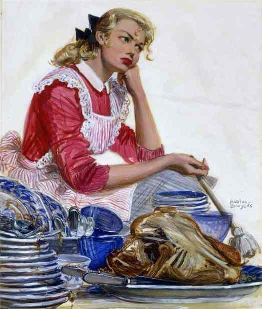 MARTHA SAWYERS 'THANKS GIVING 1947 Collier's Magazine