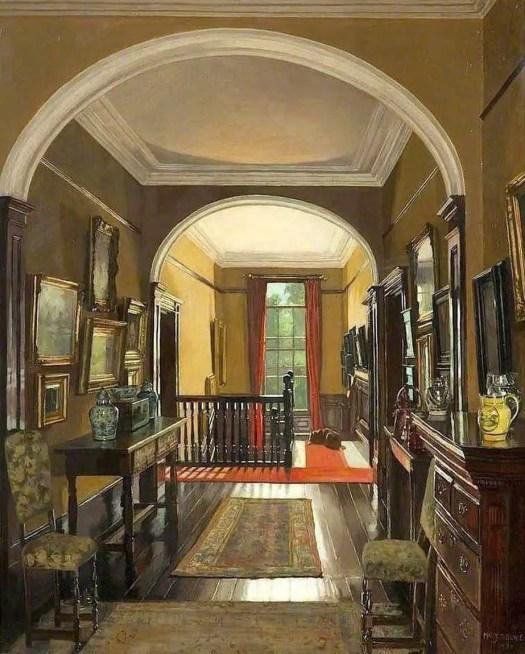 Mary Dawson Elwell (1874-1952) East Yorkshire hallway