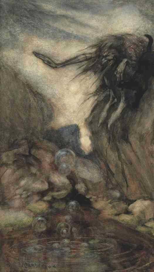 The Witch's Pool, 1904, Arthur Rackham