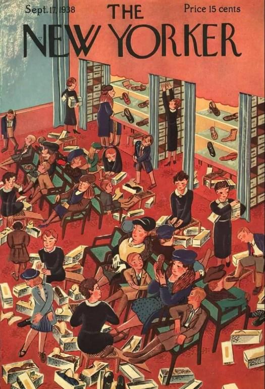 by Ilonka Karasz (1896-1981) 1938 shoe shopping
