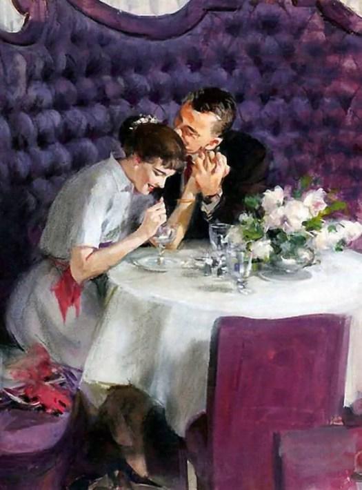 A Romantic Dinner, John Gannam (1907-1965) 1957