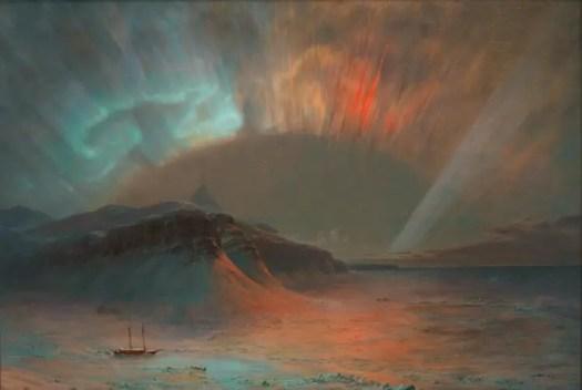 Frederic Edwin Church (American), Aurora Borealis, 1865, 56x83, 1911.4.1, Smithsonian American Art Museum