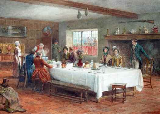 George Goodwin Kilburne - A Meal Stop at a Coaching Inn