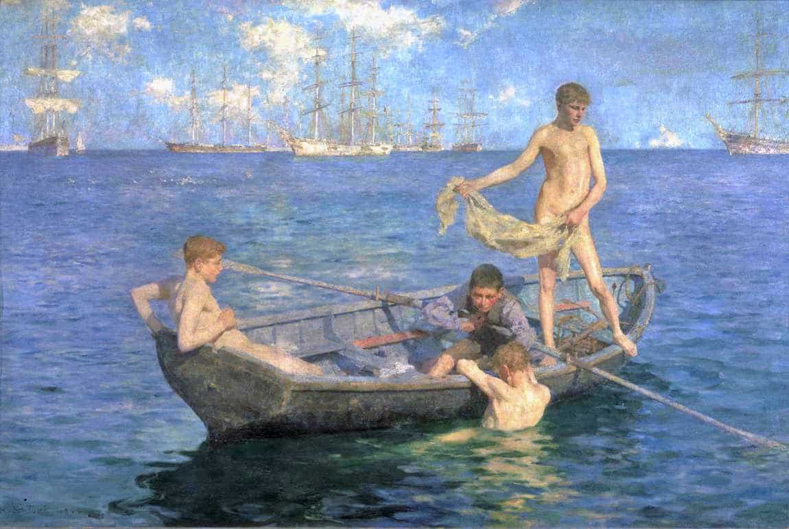 Henry Scott Tuke - August Blue 1894
