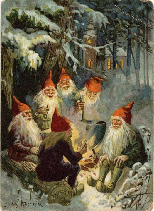 Jenny Eugenia Nystrom (1854-1946) ~ Swedish painter and illustrator who created numerous Christmas cards and magazine covers