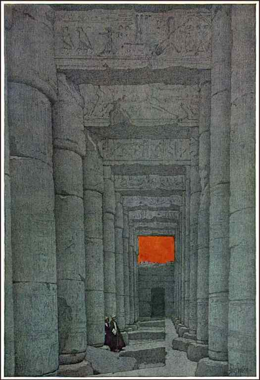 Jules Guerin, American artist, illustrator and muralist (1866-1946) for Egypt and its Monuments, text by Robert Hichens