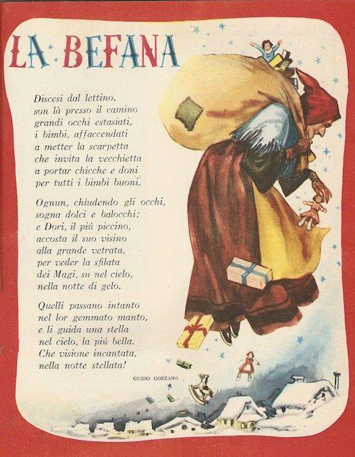 La Befana illustration from the 1950s