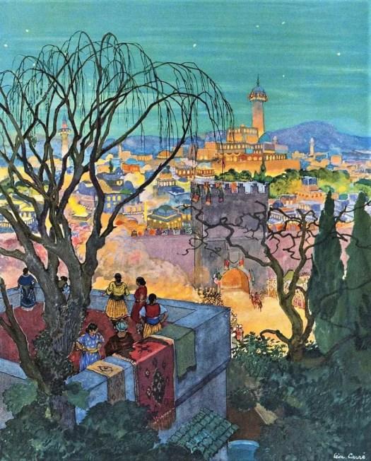 Léon Carré (1878 - 1942) 1926 illustration for Arabian Nights
