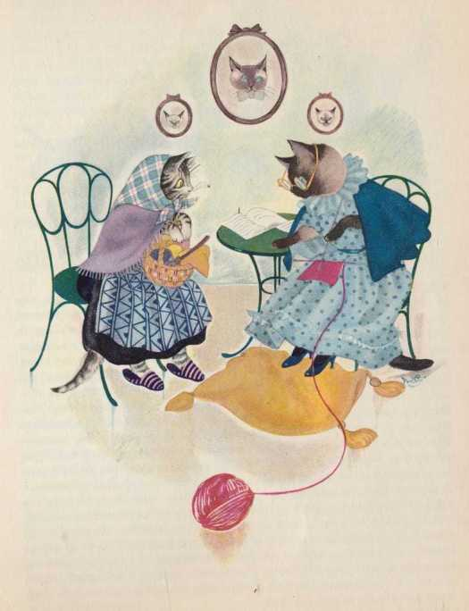Nans van Leeuwen (1900 - 1995) Dutch cat women