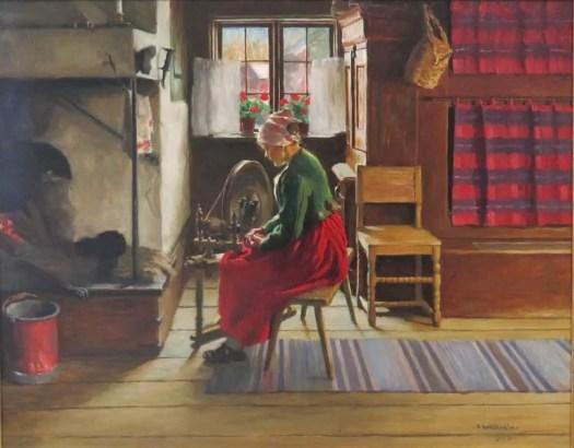 Samuel Uhrdin. He was born in Siljansnäs Dalarna Sweden sewing