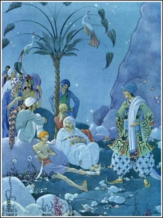 Virginia Frances Sterrett (1900 - 1931) 1928 illustration for Arabian Nights
