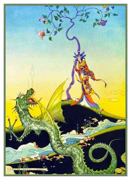 Virginia Sterrett (1900-1931), an Illustration from The Arabian Nights (1928). Her last commission before her death of tuberculosis