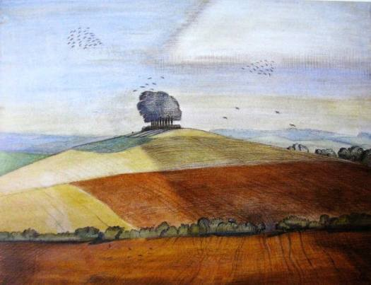1912 Wittenham Clumps, Paul Nash, UK