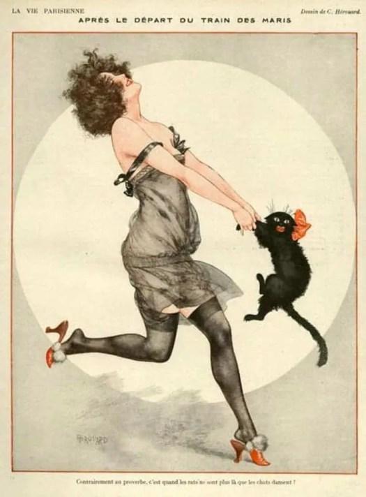 1923 illustration by Chéri Hérouard for La Vie Parisienne magazine