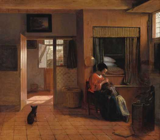 A Mother Delousing her Child's Hair, Known as 'A Mother's Duty', Pieter de Hooch, c. 1660 - c. 1661
