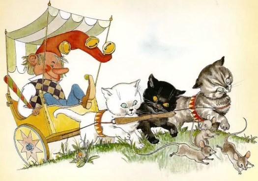 Anny Hoffmann (1917-) ), Austrian illustrator. Snurri Murri fixï Faxi, 1954