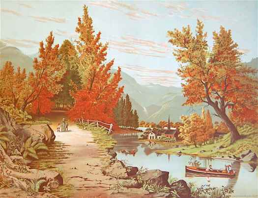Camping on Lake Chautauqua by the Gibson Lithographing Co., illustrator not credited