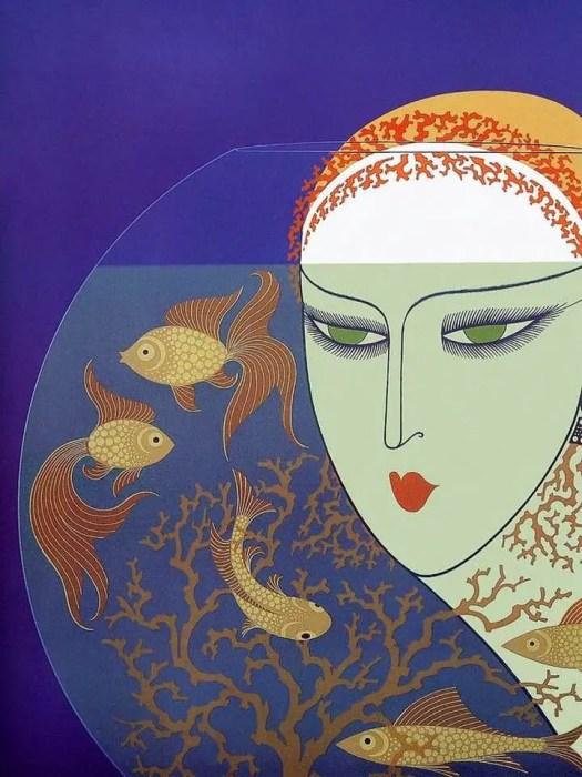 Erte 1977 fishbowl