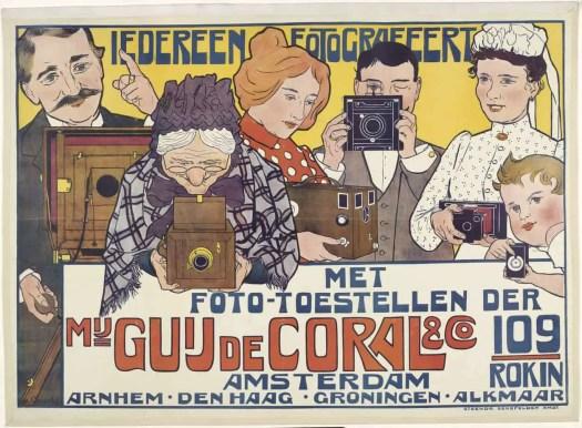 Everyone a Photographer Poster for Guy de Coral & Co, Johann Georg van Caspel, 1901 art nouveau