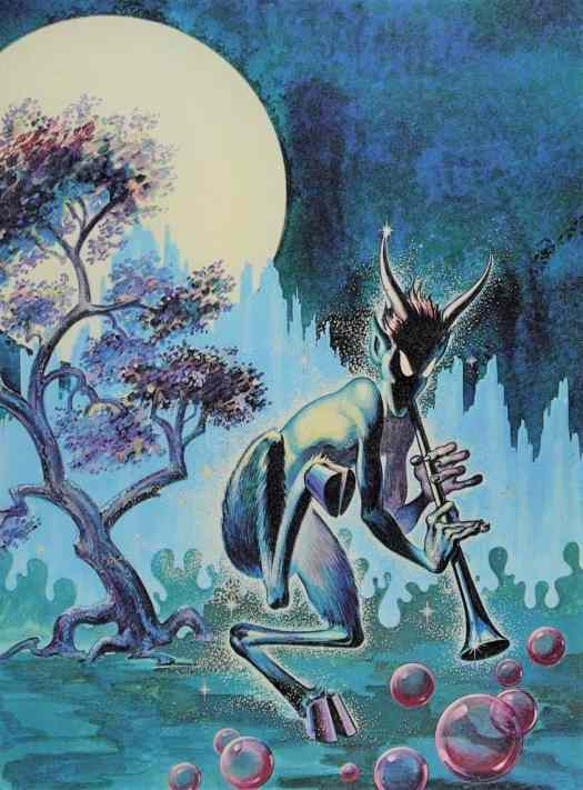 Frank Kelly Freas (1922 - 2005) 1950 'The Piper' illustration for the November issue of 'Weird Tales'