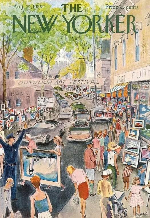 Garrett Price (1896-1979) 1959 outdoor art festival