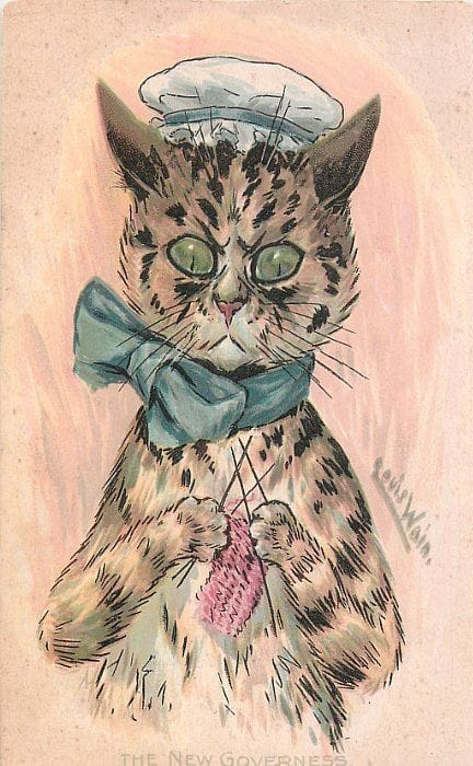 Governess by Louis Wain (1860-1939)