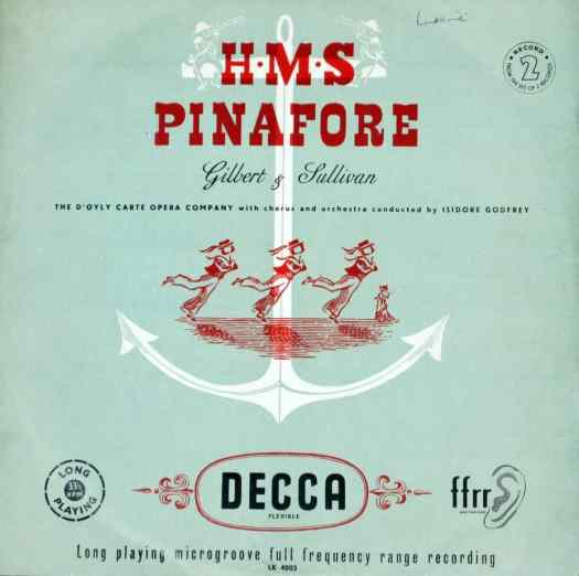 HMS Pinafore - D'Oyly Carte red blue
